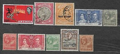 Antigua small lot of used stamps Overprinted