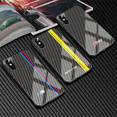 Carbon Fiber Motorsport Cover Case For Iphone 6 7 8 8 Plus iphone X XS XR MAX