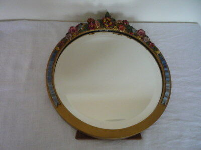 Shabby Chic Vintage Barbola Dressing Table Mirror Easel Back Stand