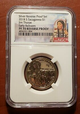 2018 S Sacagawea $1 REVERSE PROOF NGC PF70 Early Release Native American