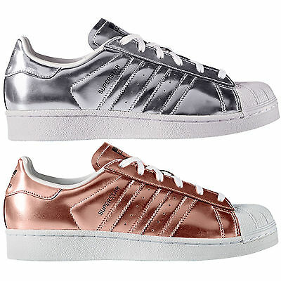 more photos 5cd86 16df6 Adidas Originals Superstar W da Donna -sneaker Metallizzato Rame Argento