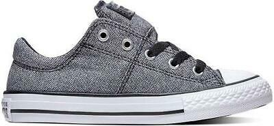 1d53c6e468c2 Girl s Youth CONVERSE CHUCK TAYLOR ALL STAR MADISON OX Gray Sneakers  662332F NEW