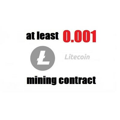 at least 0.001 Litecoin (LTC) 1 hour Cryptocurrency mining contract