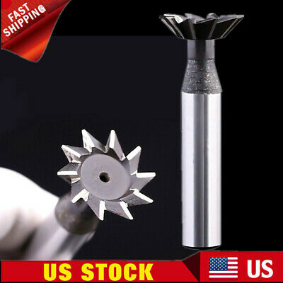 8mmx60° Degree High Speed 6 Flutes Steel Dovetail Cutter End Mill Bit Router US