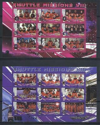 FS9228 Souvenir Sheets Special 2 Diff Space 9 Shuttle Missions 1994-95 & 2000-02
