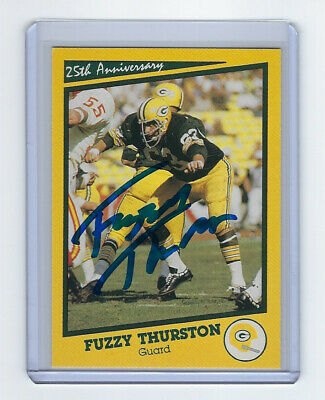 PACKERS Fuzzy Thurston signed SB I card AUTO Autographed Super Bowl I Green  Bay 36dfc8b3a