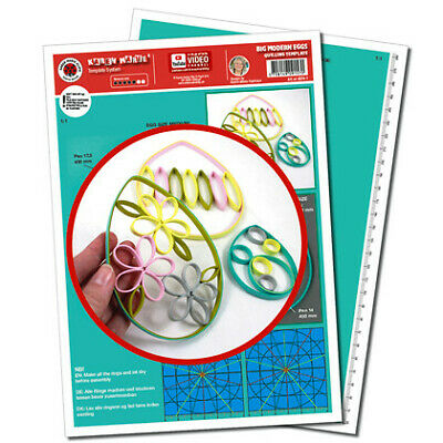 Quilling Template, Big Modern Eggs