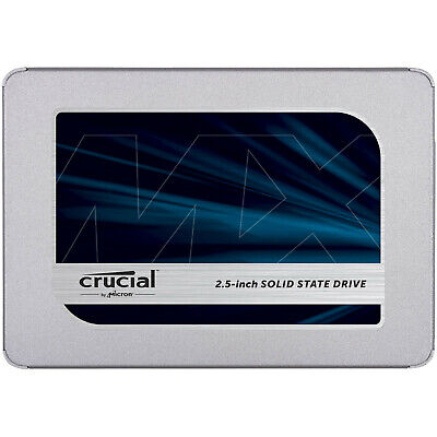 "Crucial MX500 500GB SATA 2.5"" 7mm (with 9.5mm adapter) Internal SSD"