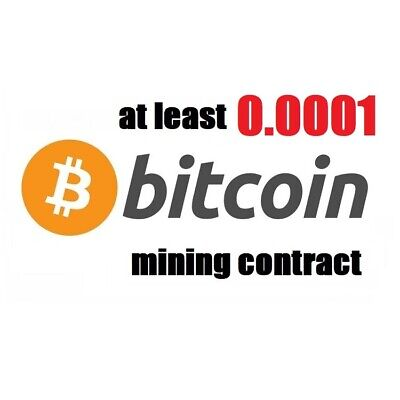 at least 0.001 Bitcoin (BTC) 1 hour Cryptocurrency mining contract