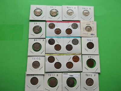 Estate Lot of 26 Vintage Old Coins 50 to 125 Years Old Some Silver (OC15)