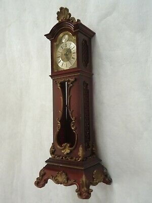 Vintage Schmid Miniature Grandfather Clock. Spares Or Repair