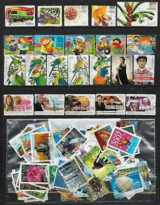 2003 To 2007 100 Australian Stamps  All Different  Used