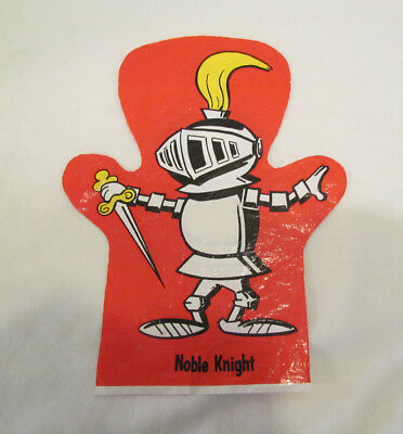 OSCAR MAYER WIENERS HOT DOGS 60's NOBLE KNIGHT PLASTIC SHEET HAND PUPPET PREMIUM