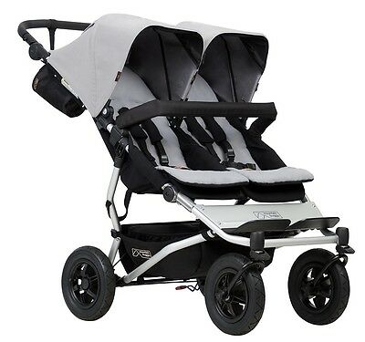 Mountain Buggy 2017 Evolution Duet Double Stroller - Silver - New! (see details)