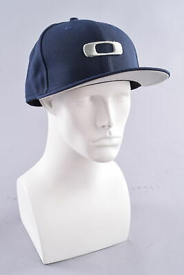 efef4c514cf OAKLEY 59FIFTY NEW Era Fitted Square O Hat Cap 58.7cm Navy Blue ...