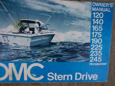 1975 OMC STERN Drive 120 140 165 175 190 225 235 245 HP Engine Owner Omc Wiring Harness on