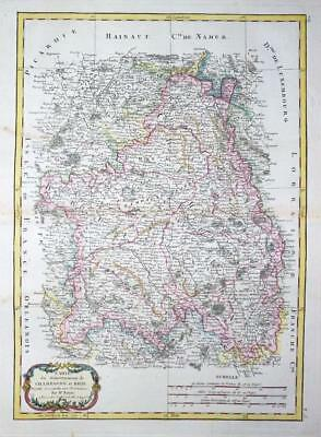 1771 - Original Antique Map FRANCE regions of BRIE & CHAMPAGNE by Bonne