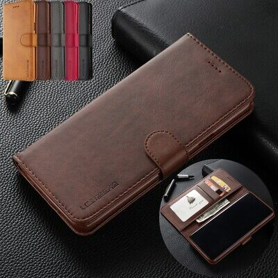 For Samsung A8 2018 A6+ A7 A9 2018 Case Retro Flip Magnetic Leather Stand Cover