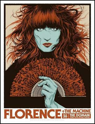Florence And The Machine - 2019 - Sydney - Ken Taylor- Poster - Royal Gardens