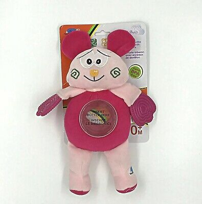Baby Bottle Buddy Collection Pink Bear