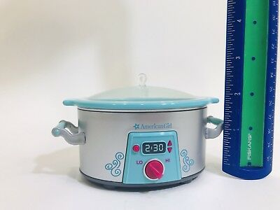 American Girl Doll Slow Cooker Crock Pot Gourmet Kitchen from Dinner Food Set