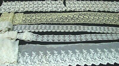 ANTIQUE 1800s EARLY 1900s LOT LENGTHS WIDE & NARROW TRIM EDGING