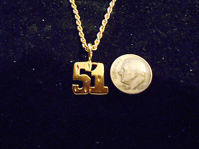 bling gold plated game fashion number 51 pendant charm hip hop necklace JEWELRY