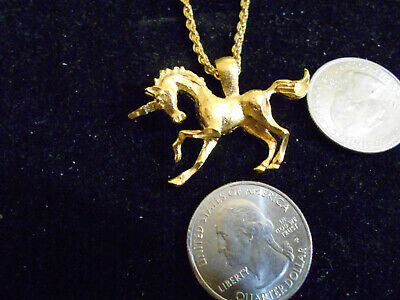 bling gold plated stonehenge myth unicorn celt PENDANT charm necklace jewelry gp