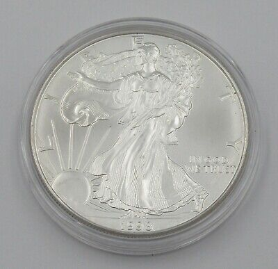 1998 Uncirculated 1 oz Silver American Eagle Coin In Capsule - Item# 8832
