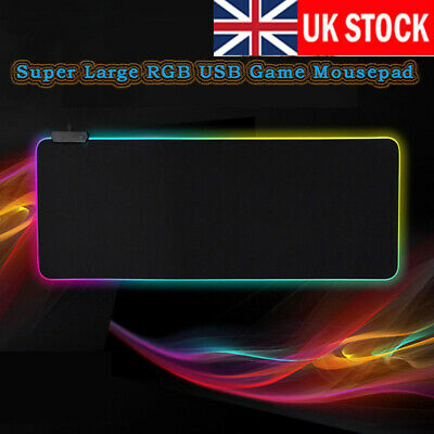 Large RGB Colorful LED Lighting Gaming Mouse Pad Mat  800*300*4mm