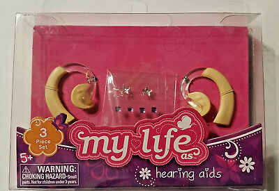 """My Life As Doll Hearing Aids Earrings Sticker Sheet Fits 18/"""" Dolls BRAND NEW"""