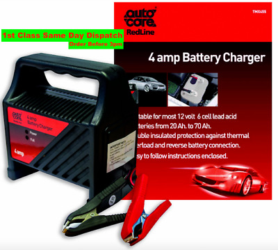 Autocare 4 Amp Car Battery Charger Suitable for most 12v 6 cell lead acid 4A UK