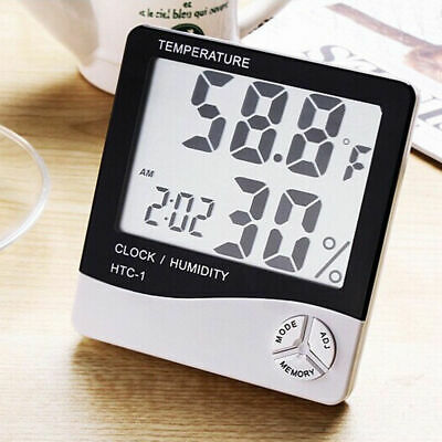 Digital Indoor Outdoor LCD Thermometer Hygrometer Temperature Humidity Meter New