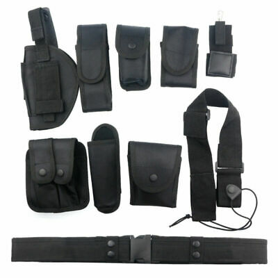 Security Tactical Patrol Belt & Pouch System Police Prison Guard Utility Kit -UK
