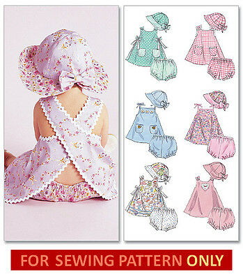 Sewing Pattern! Make Baby Dress~Panties~Hat! Summer Clothes Size Small~X Large!