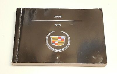 2005 Cadillac Sts Owners Manual Guide V8 4.7L V6 3.6L Awd 2Wd Fuses Fluids Radio