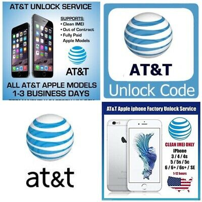 Facrory Unlock Service FOR AT&T IPHONE XS XR X 8 8+ 7+ 7 6+ 6 5 CLEAN IMEI FAST