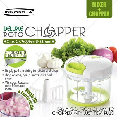 Easy Pull Chopper and Manual Food Processor Vegetable Slicer and Dicer hand Held
