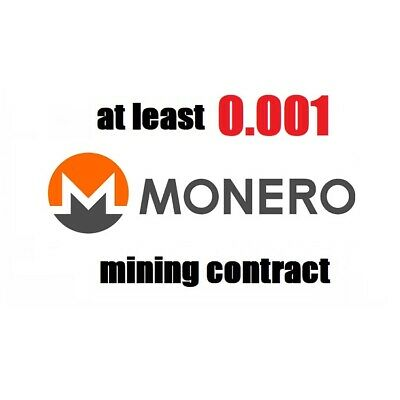 at least 0.001 Monero (XMR) 1 hour Cryptocurrency mining contract
