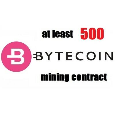 at least 1000 Bytecoin (BCN) 1 hour Cryptocurrency mining contract