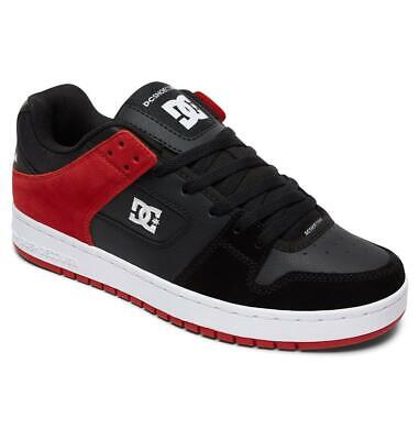 DC Shoes Manteca Black/Athletic Red Skate Shoes