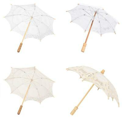 Handmade Lace Flower Embroidery Parasol Wedding Bride Photography Umbrella