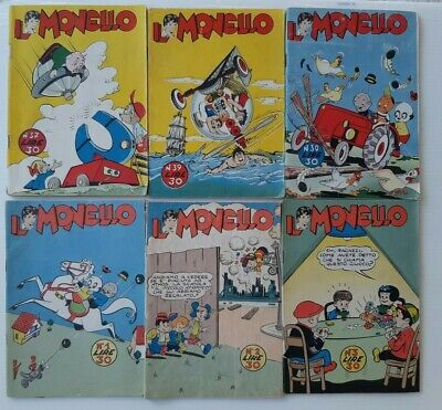 il monello lotto 6 albi 1955 1956 1957
