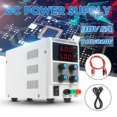 Adjustable DC Power Supply 30V 5A Variable Digital Regulated Lab Grade