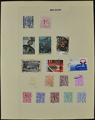 Belgium Album Page Of Stamps #V8480