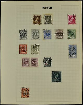 Belgium Album Page Of Stamps #V8473