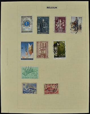 Belgium Album Page Of Stamps #V8477