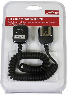 Metz TTL FLash Cable for Nikon TCC-20 - New & Sealed