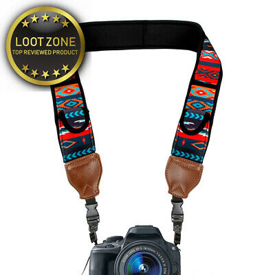 USA Gear TrueSHOT DSLR Camera Neck Strap with Neoprene Design and Quick...