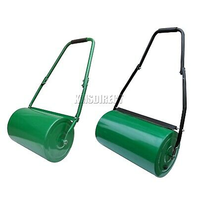 FoxHunter Heavy Duty Steel Garden Grass Lawn Roller Green Water Sand Filled 48L